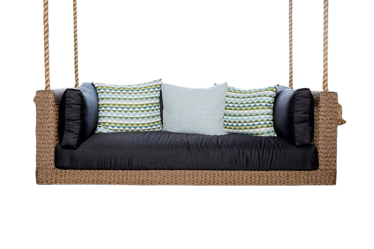 Osier Belle Teak and Wicker Hanging Lounge