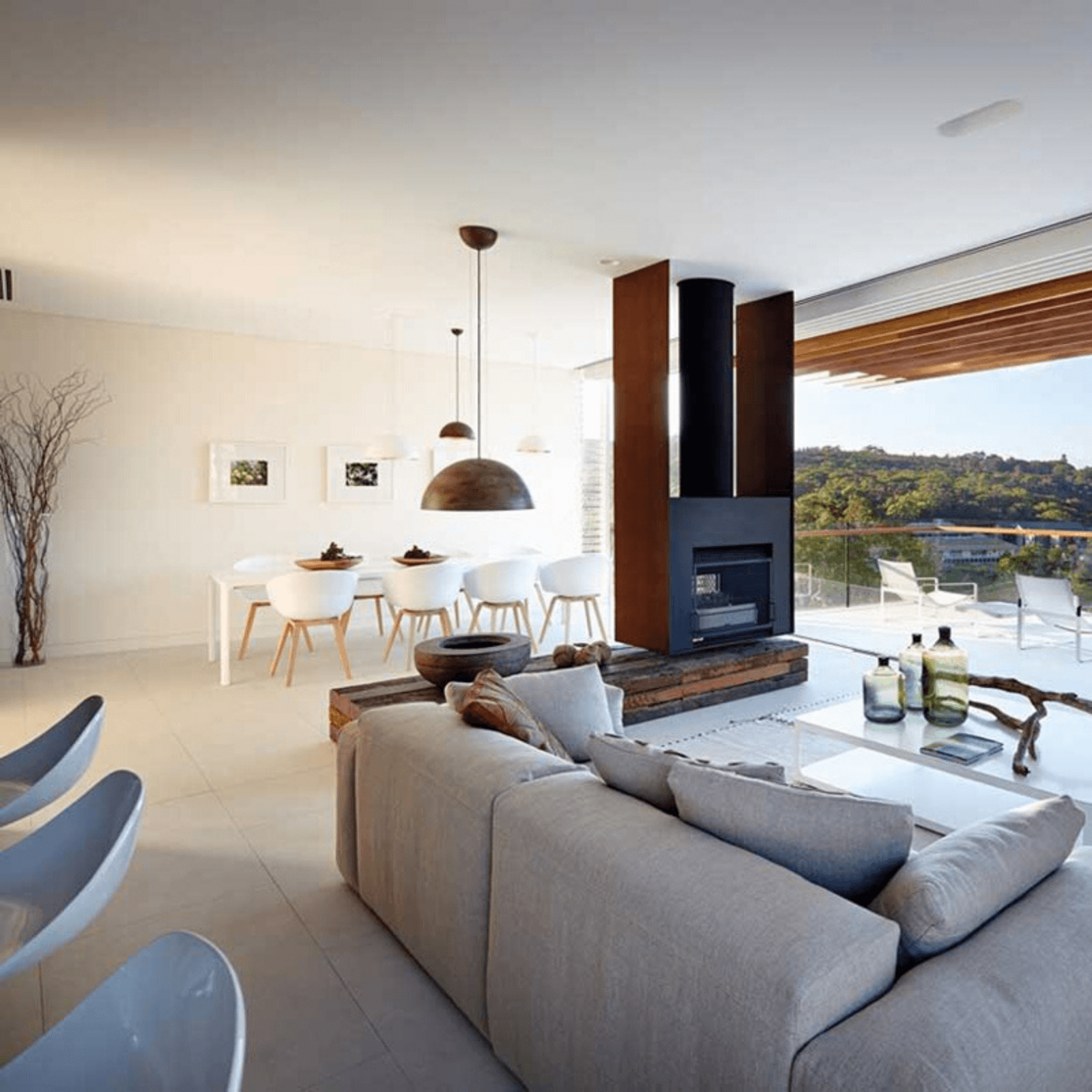Two Design Lovers Sunset pendant in situ living room