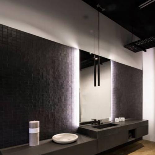 Two Design Lovers Girasoli pendant in situ bathroom