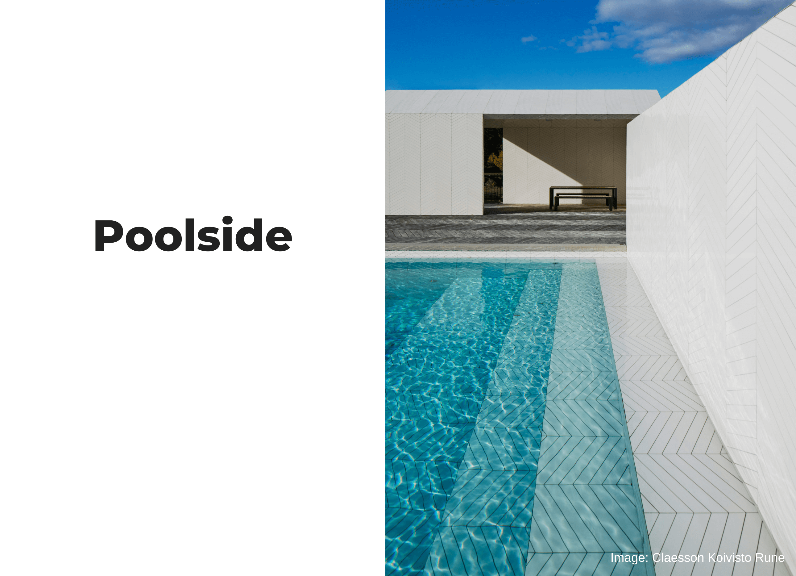 Two Design Lovers homepage banner poolside