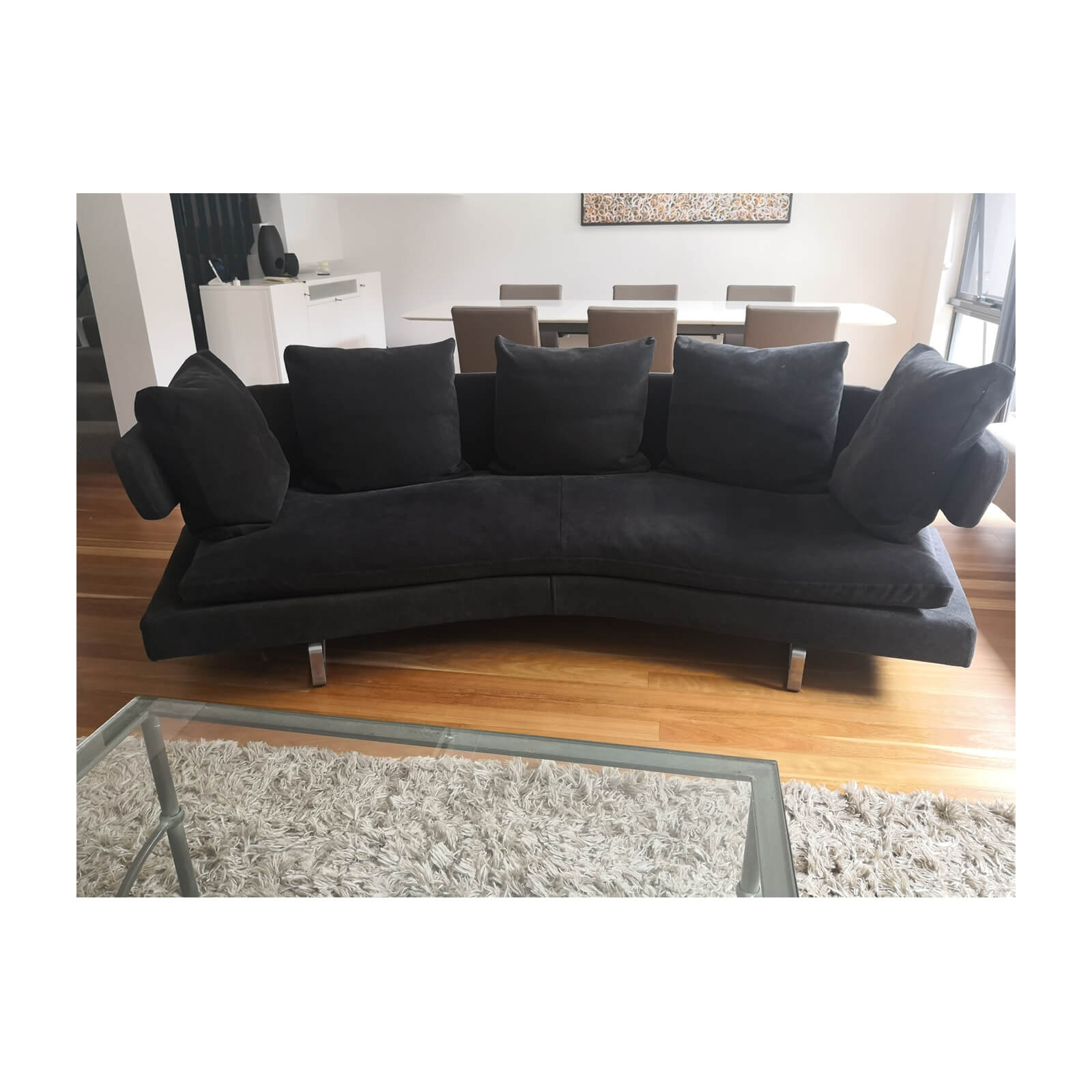 Two Design Lovers B&B Italia Arne sofa anthracite front