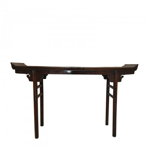Asian brown console table
