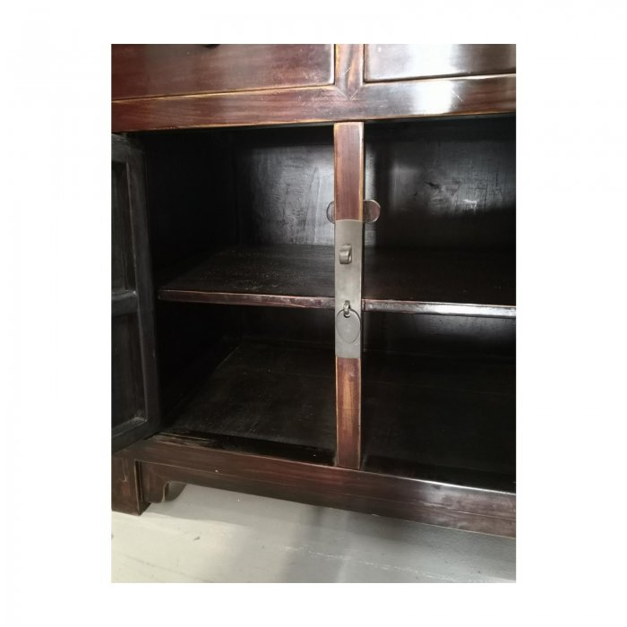 asian cabinet with doors and drawers