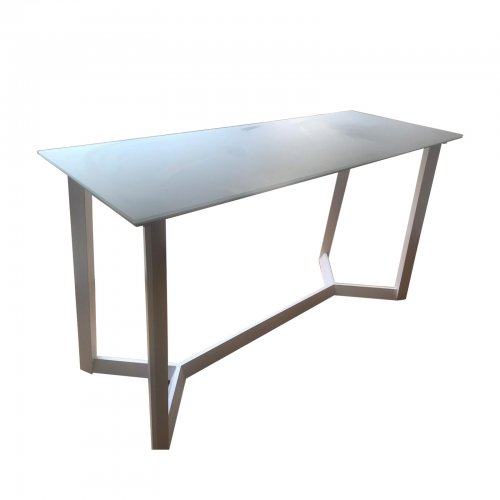 white outdoor bar table