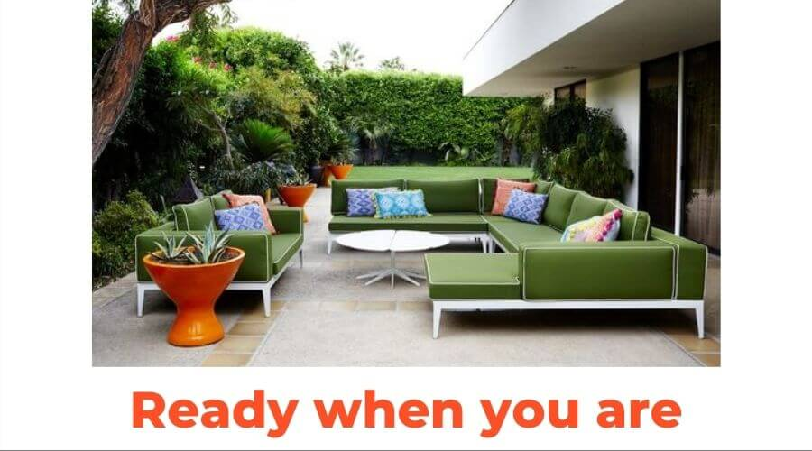 Ready When You Are! How to choose weatherproof outdoor furniture