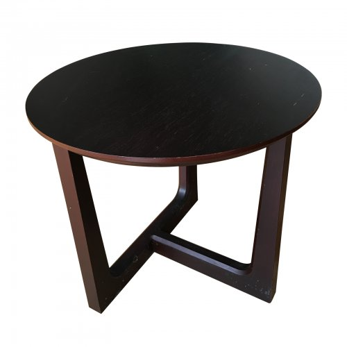 Fanuli Tobia Round Occassional Table in Wenge