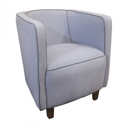 Two Design Lovers Pair of Blue Tub Chairs