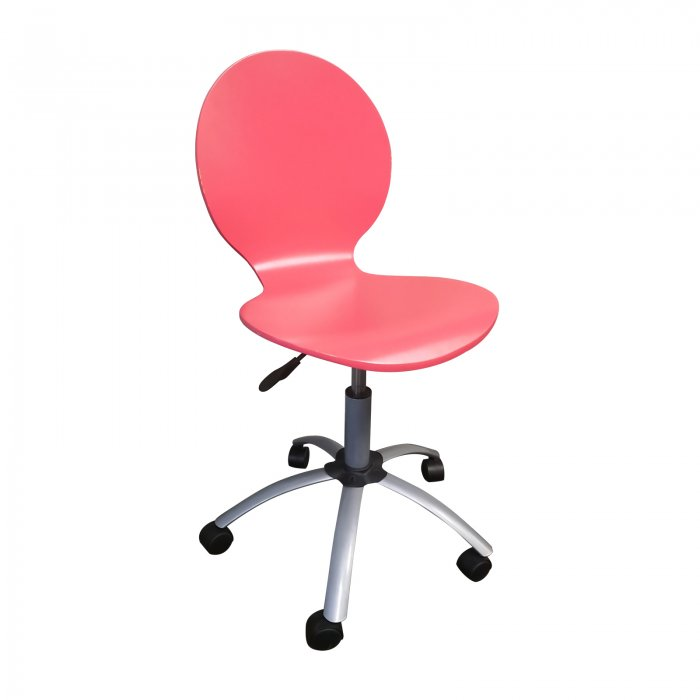 Two Design Lovers pink swivel chair
