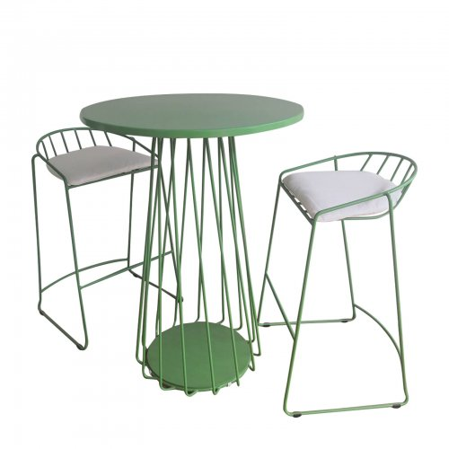 two design lovers outdoor wire bar table and stools