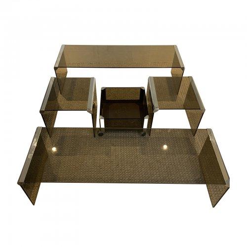 two design lovers pierangelo galotti 1980s coffee table set