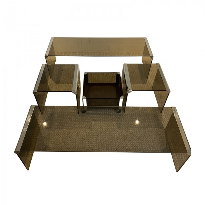 two design lovers pierangelo galotti 1980s coffee table set