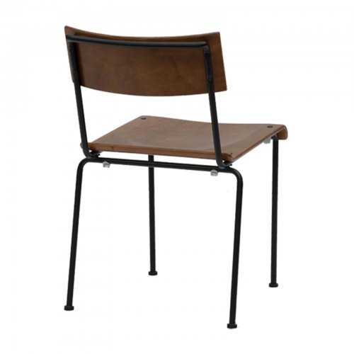 Chair with wood seat - back
