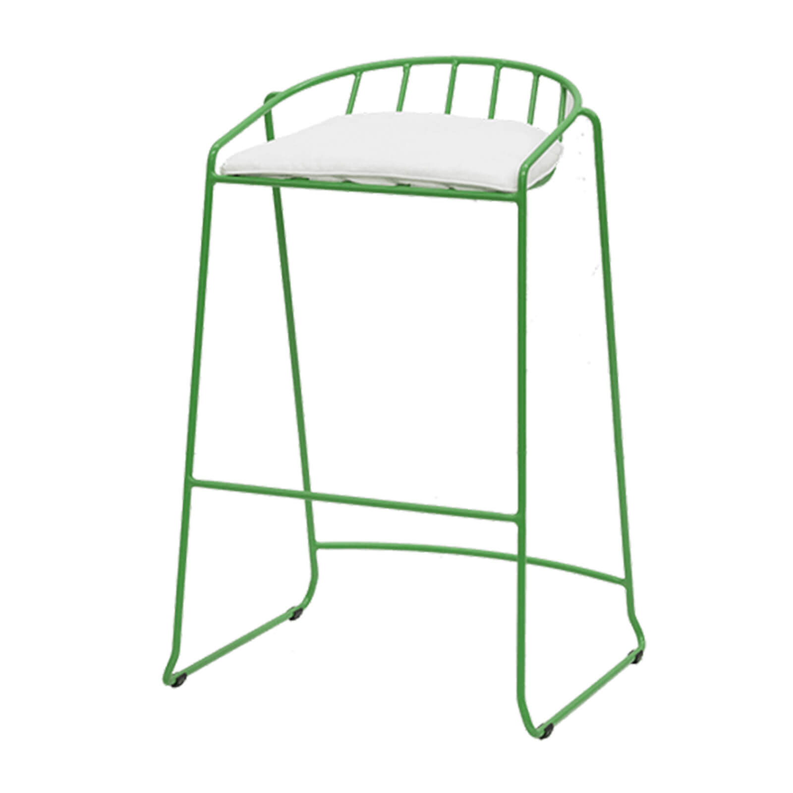 Outdoor barstool - green - front