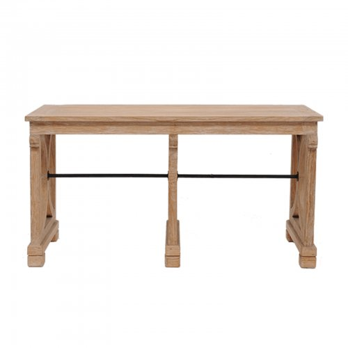 Teak console table front