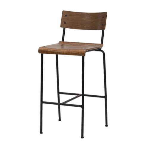 Tall Barstool with wood seat