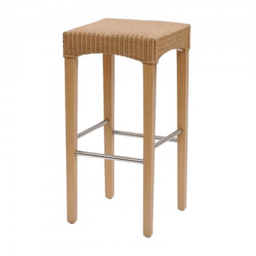 Wicker Barstool Natural