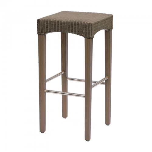Wicker barstool - taupe