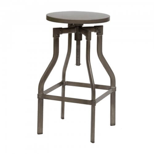 Retro barstool antique brass