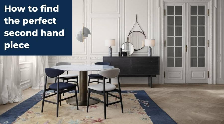 How to find the perfect second hand piece! Authentic designer furniture on a budget