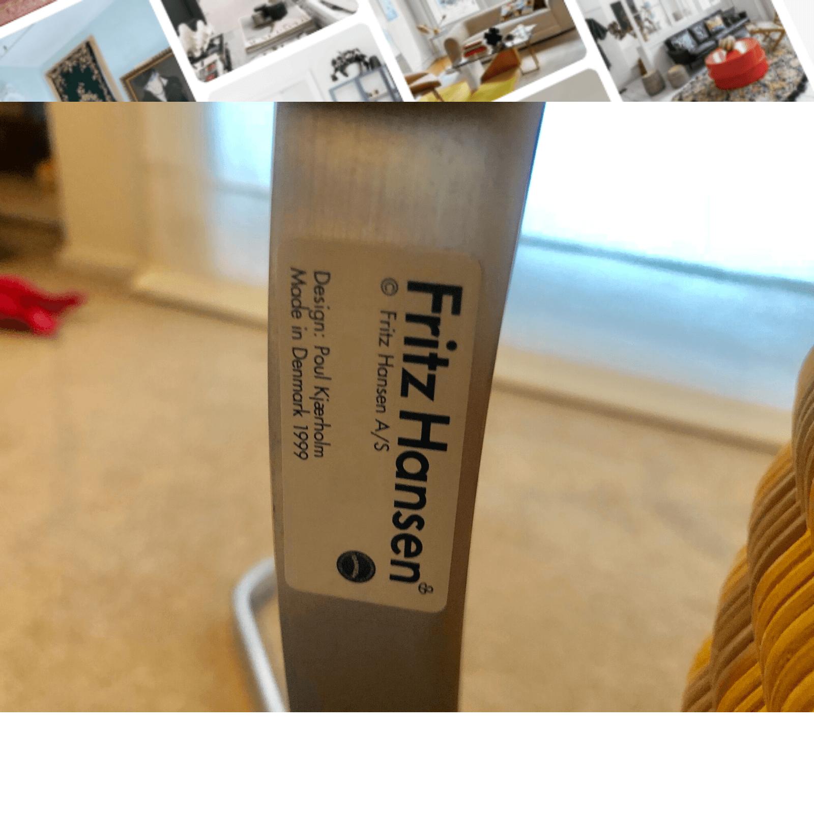 Fritz Hansen PK22 easy chair, 1 sticker