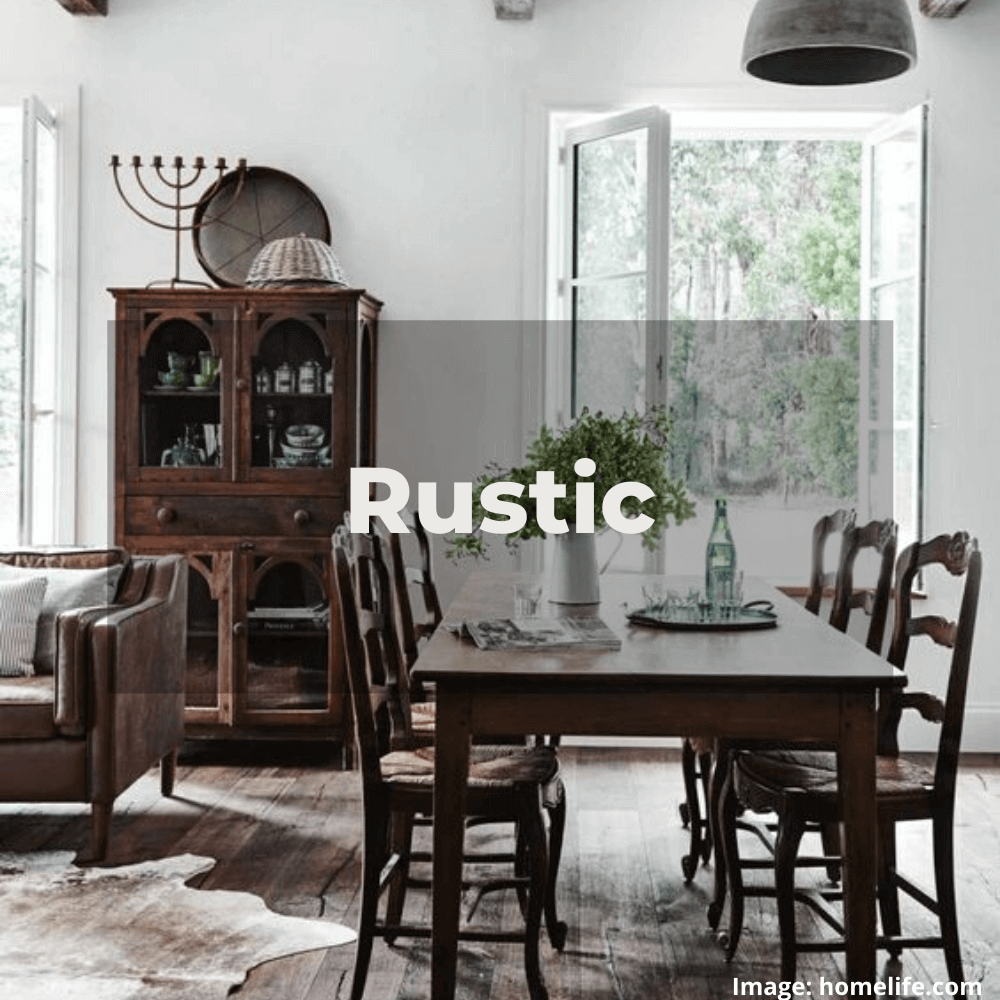 Two Design Lovers designer furniture Rustic style category