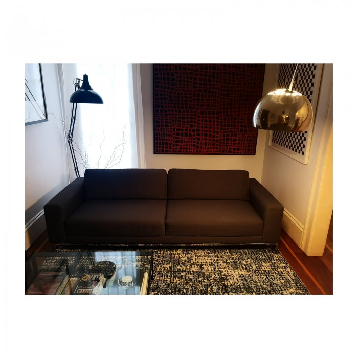 Two Design Lovers Ilva sofas charcoal grey pair 8