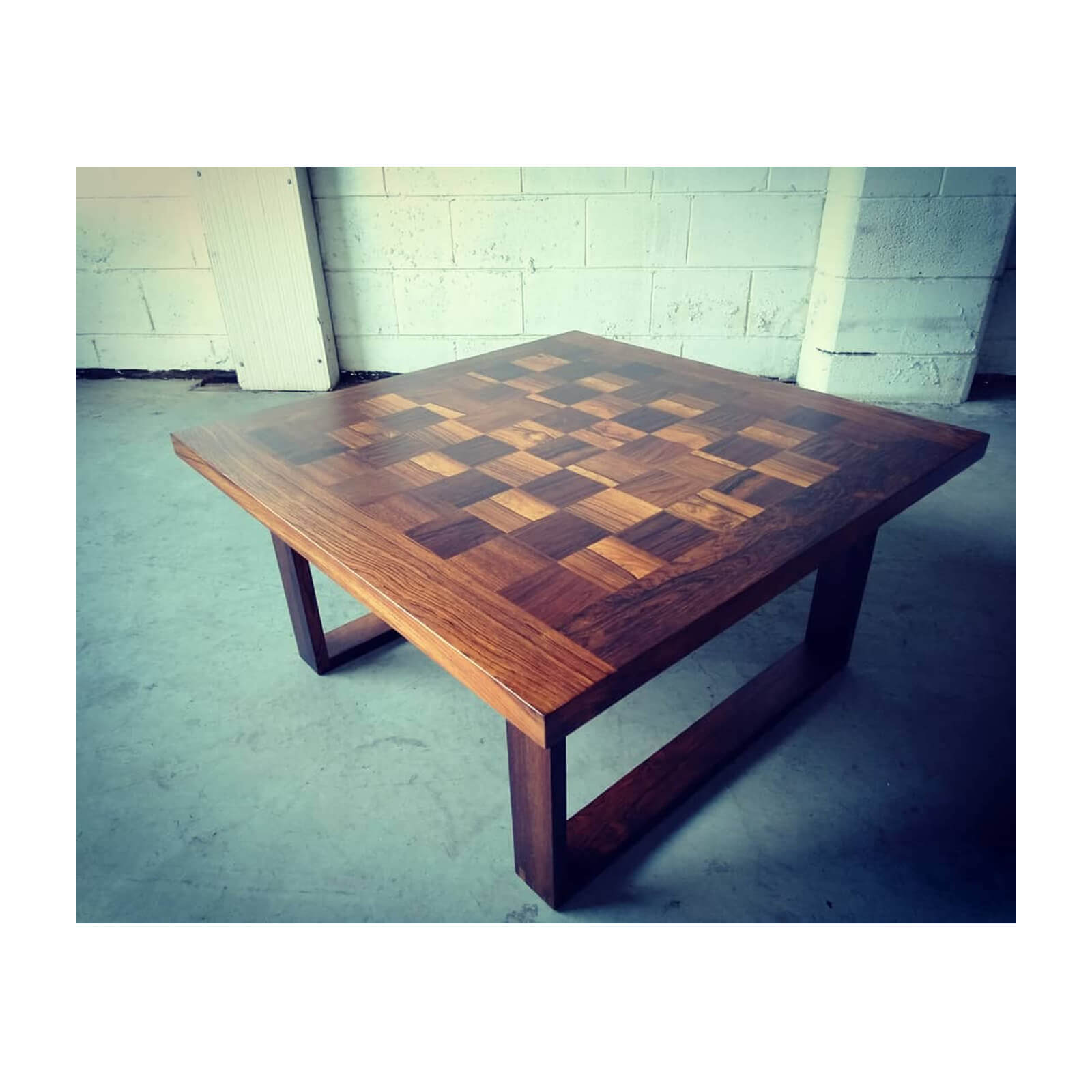 Arne Vodder chequerboard rosewood coffee table