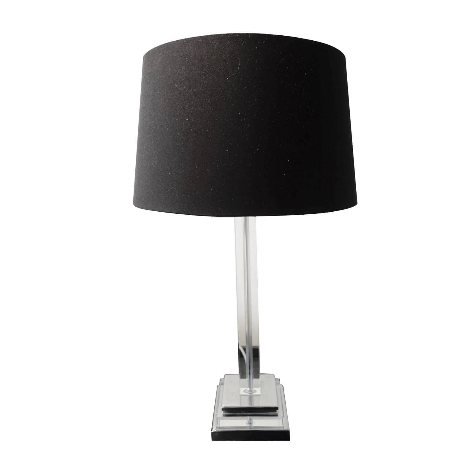 Two Design Lovers bedside table lamps with black shades