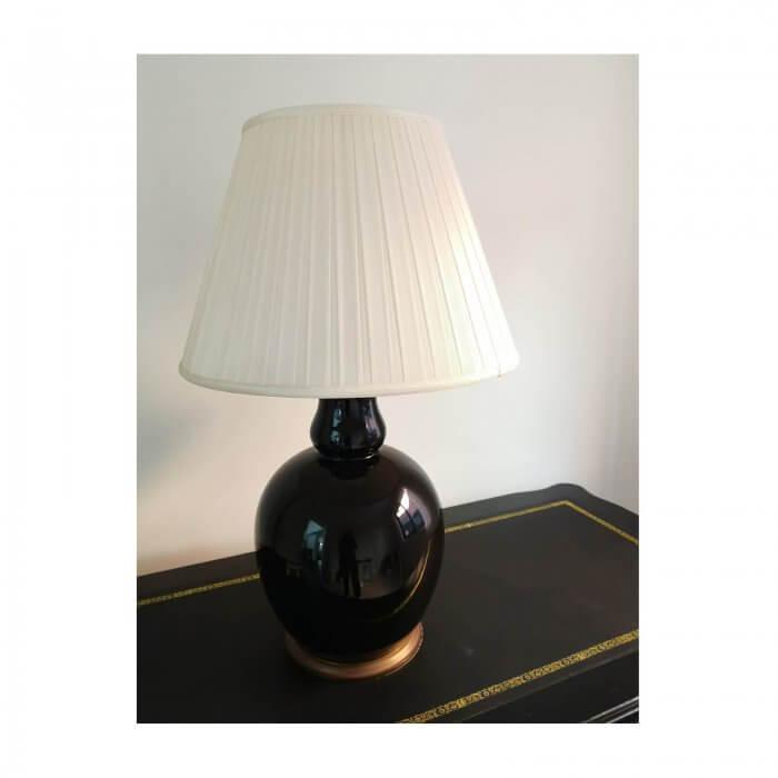Black ceramic ginger jar lamps