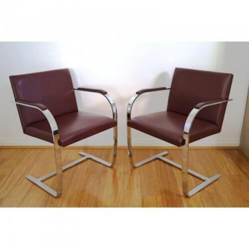 Knoll Brno Flatbar Mies Van Der Rohe chairs