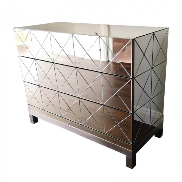 Mirror chest of drawers (pair)
