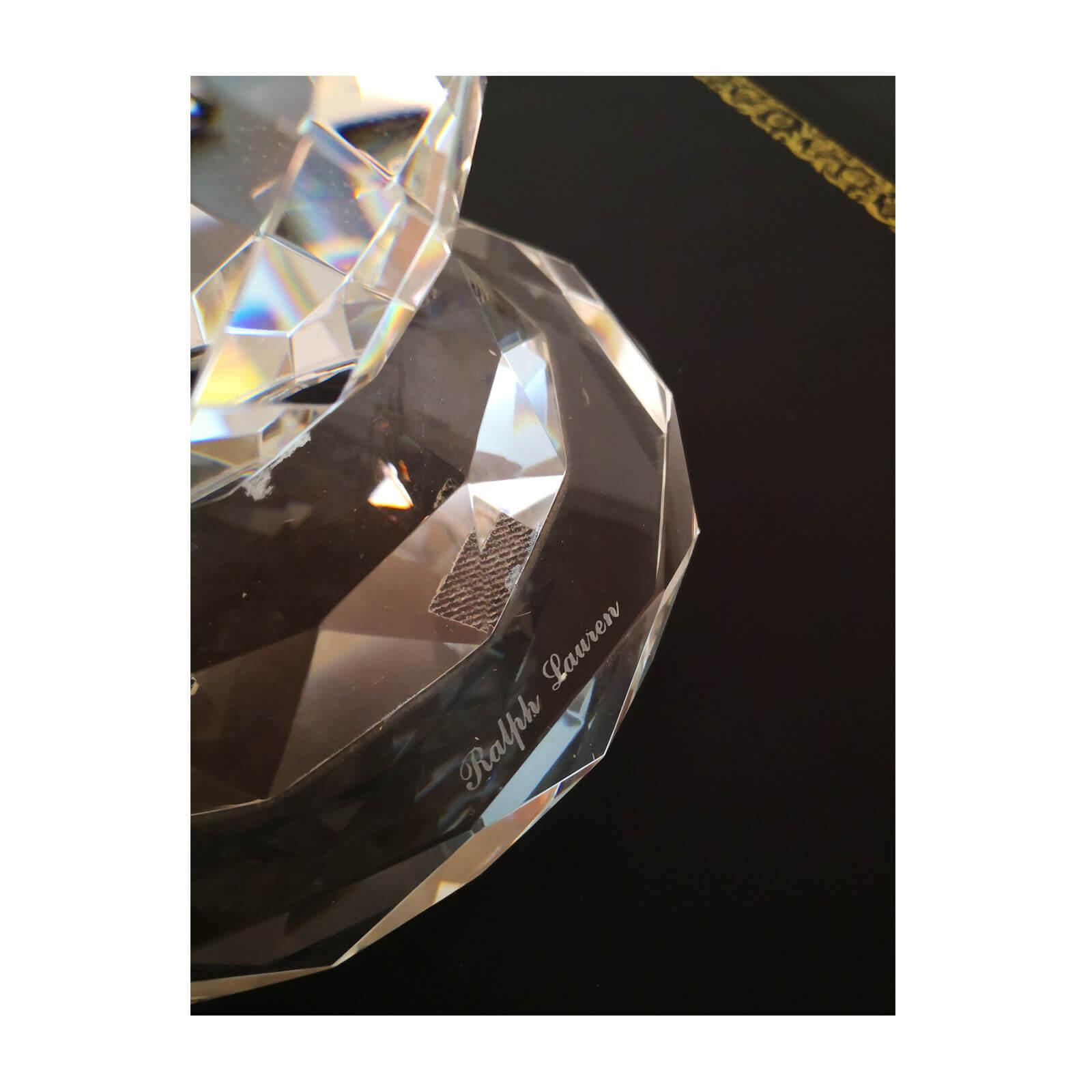 Ralph Lauren Daniela cut crystal lamps (pair)