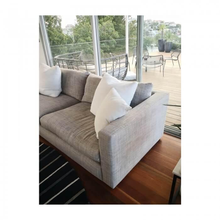 Second hand Jardan sofa in grey fabric