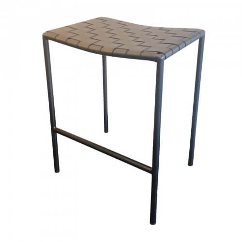 Coco Republic Milano bar stool black leather