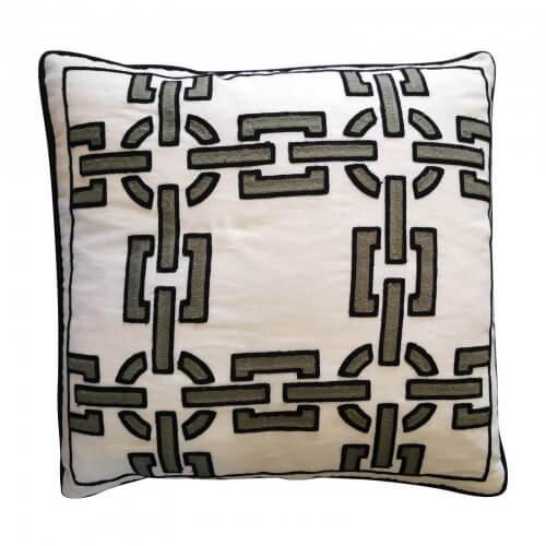 Greg Natale Monte Carlo cushion in black, grey, white