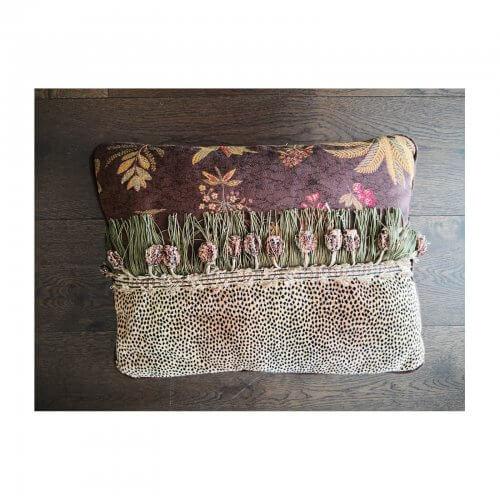 John-Richard leopard and floral cushion