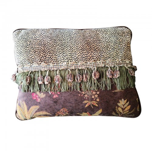 John-Richard leopard and floral cushion