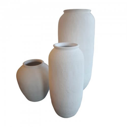 Papaya white pots set of 3