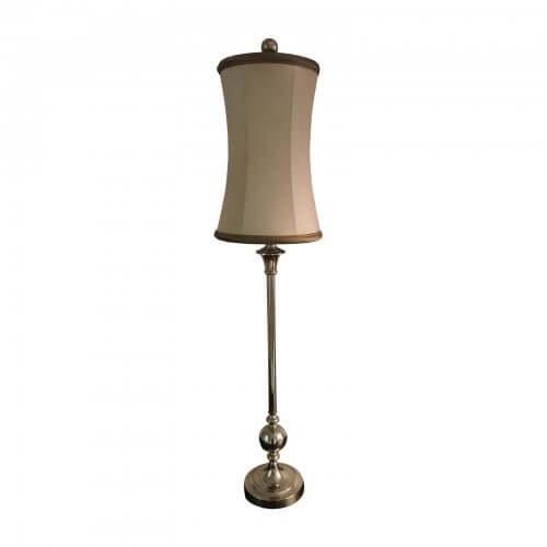 silver lamp with tilting shade