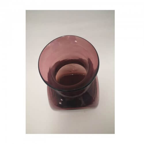 Amethyst Glass Square Vase