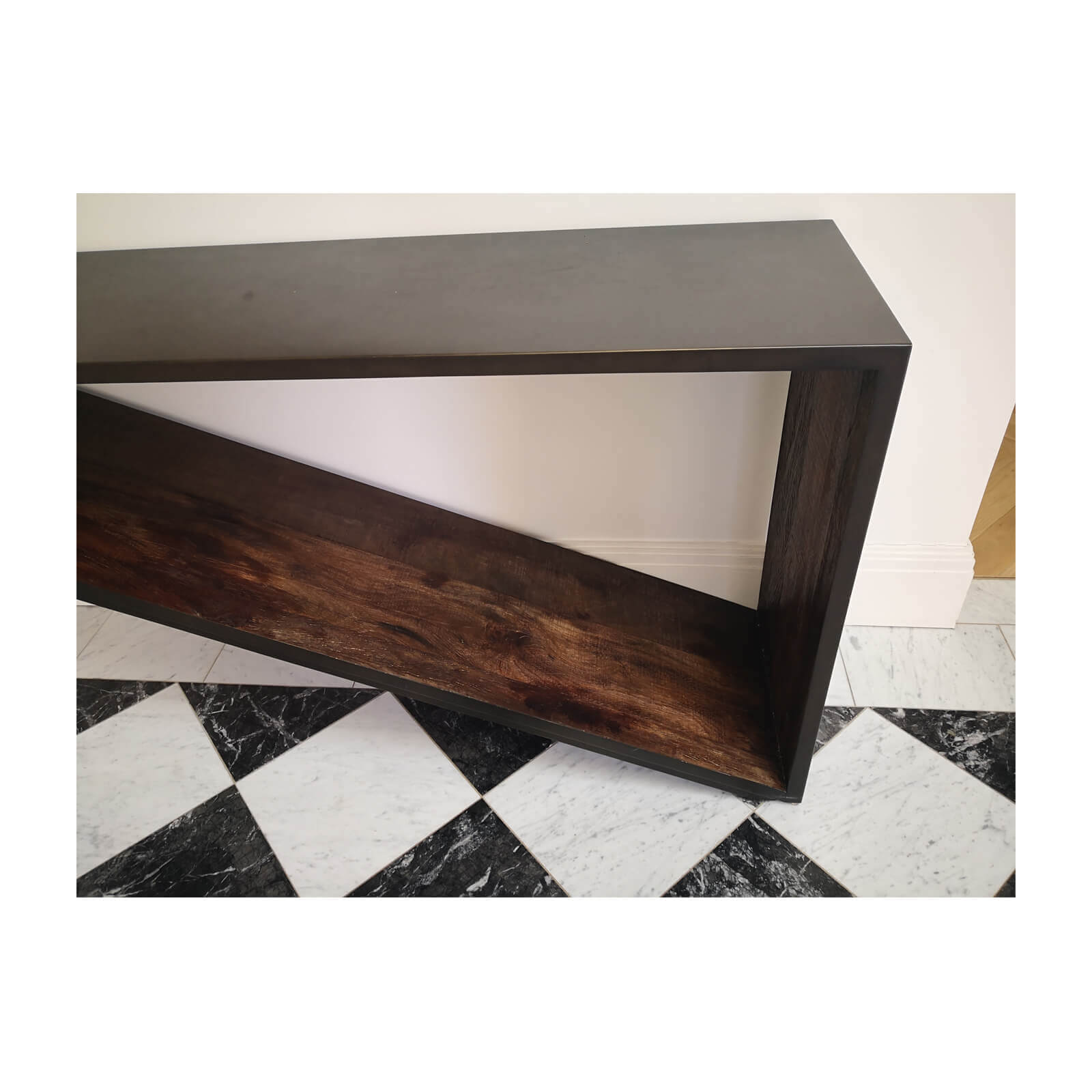 Coco Republic Console Table with Wood Cross Section