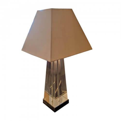 Coco Republic Perspex Lamp with cream shade