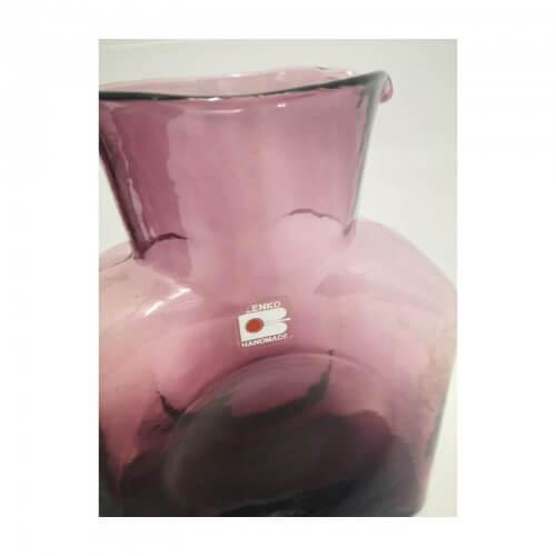 Collection of Mauve Blenko Handmade Glass Vases