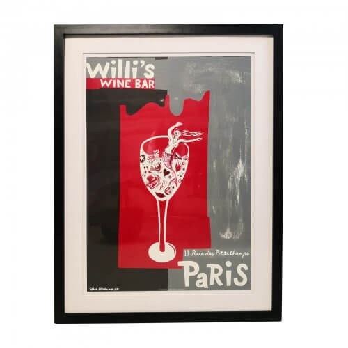 Framed Parisian Bar Print
