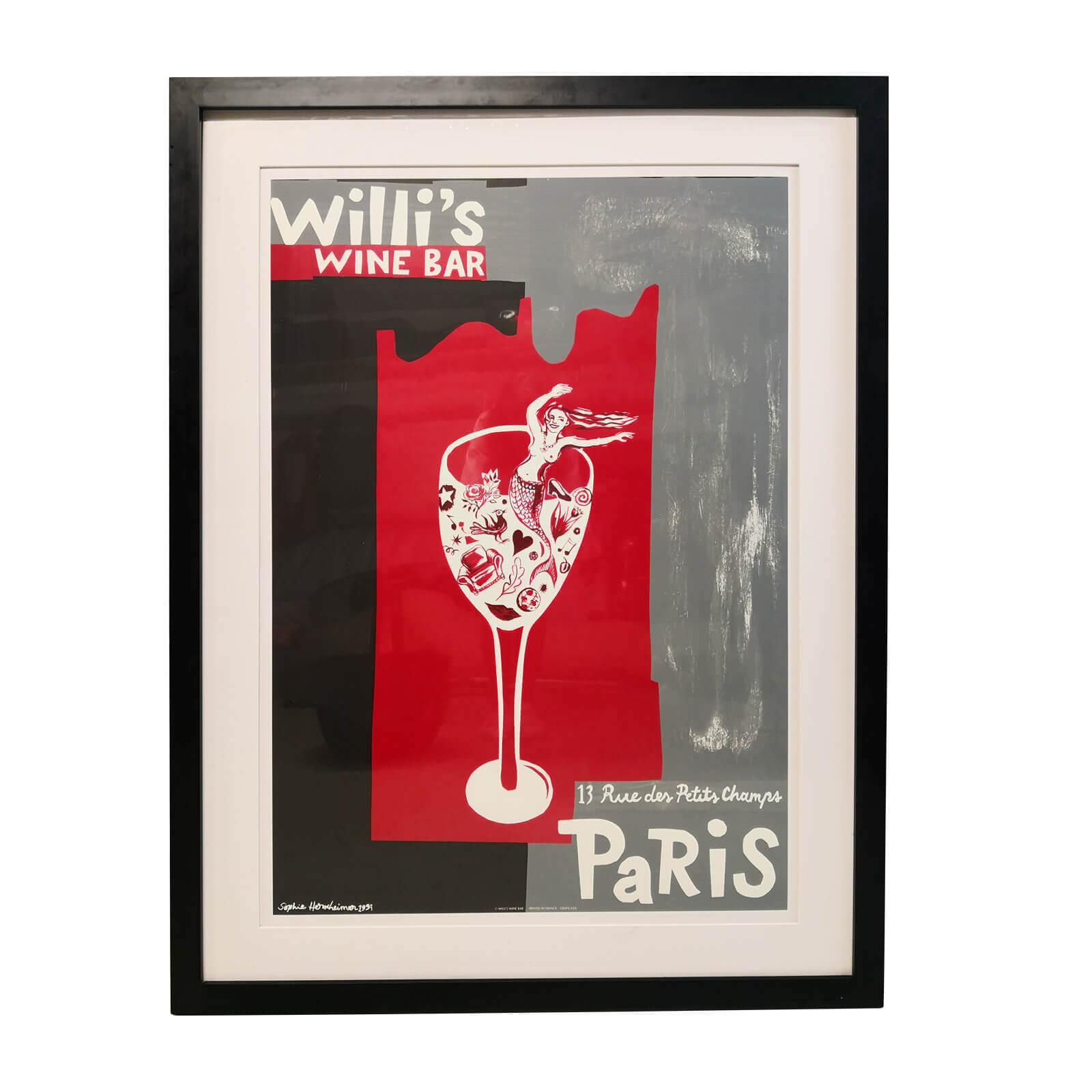 Framed Parisian Bar Print