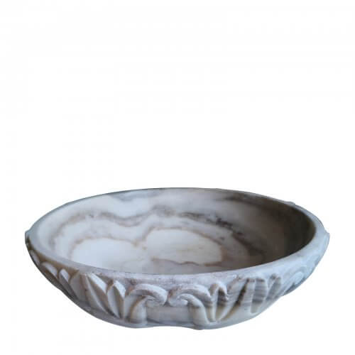Indian Marble Carved Bowl