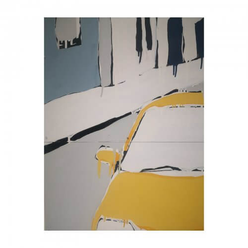 Jasper Knight original artwork Yellow Car