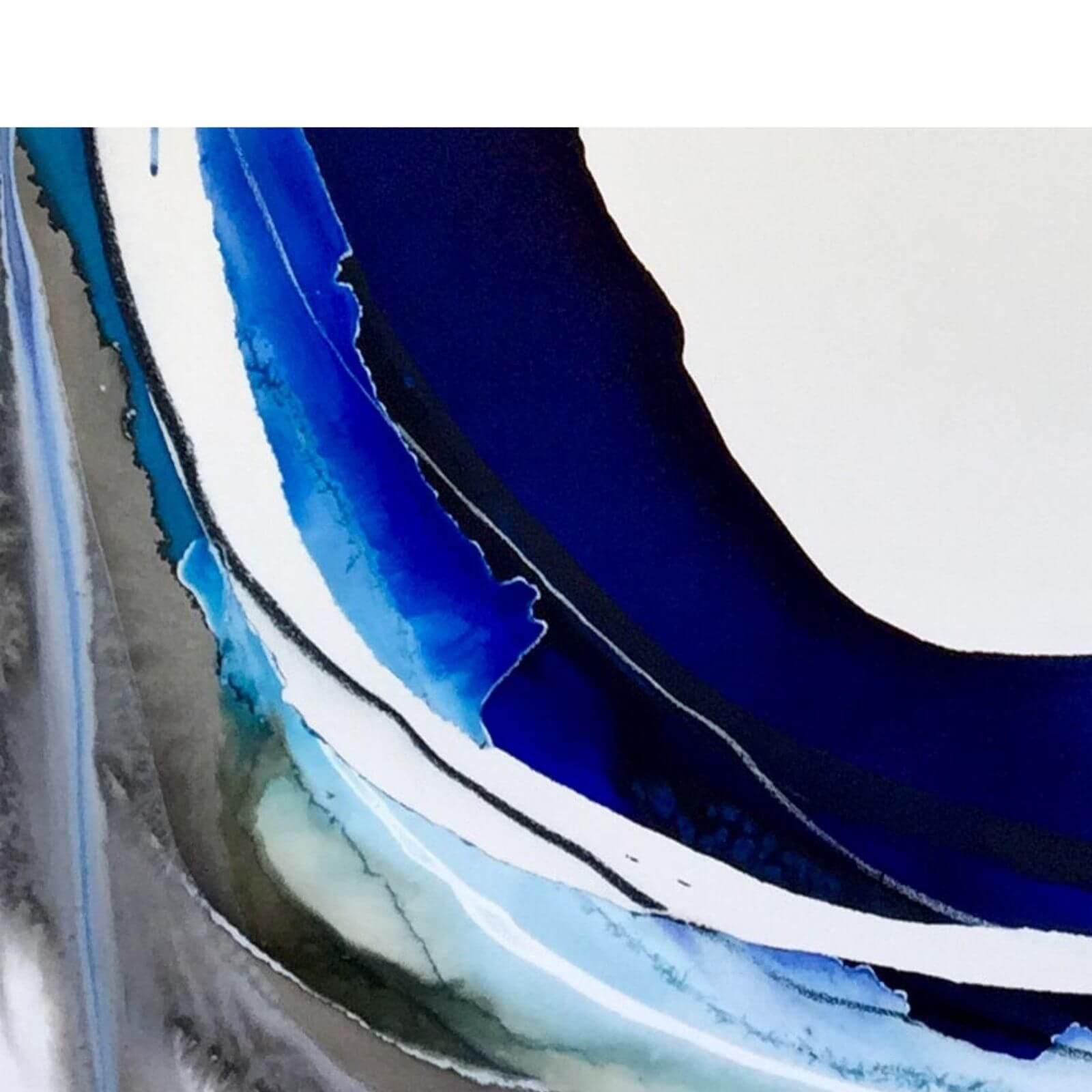 Lara Scolari Bleu Bolt 1 contemporary art work