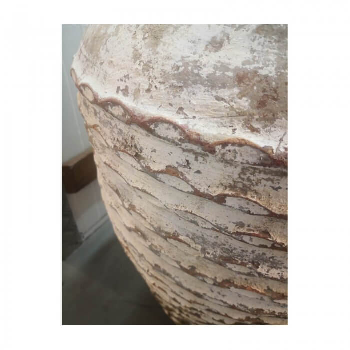 Large Antique White Jar Shaped Garden Pot