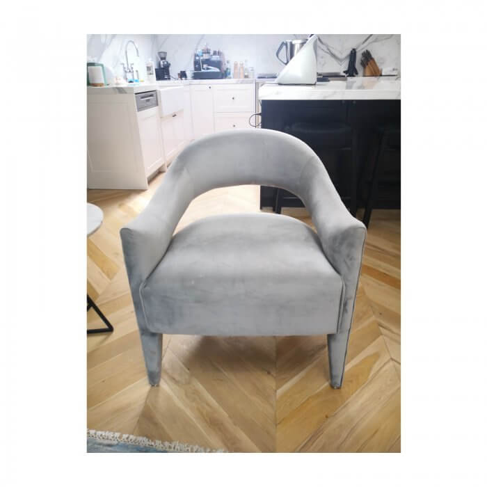 two design lovers Pair of Grey Accent Chairs